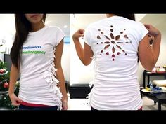 How to resize a t-shirt without sewing! Plus, snowflake template t-shirt...