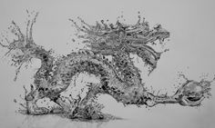 Water Dragon (Pencil) by Paul-Shanghai.deviantart.com on @deviantART - Incredible effects just with a 4B mechanical pencil!