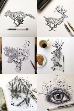 nature drawings #AnimalTattoos