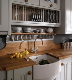 finally... wood counter tops ') love the bowed sink, too!