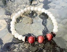 Moonstone Rhodonite Wrist Mala Beads Healing Bracelet - Blessed Karma  – AwakenYourKundalini