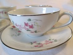 Vintage Hira Fine China Pink Vine 4187 Cup & by LBFCollections, $20.00