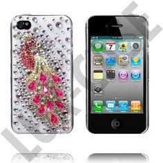 Bling Bling iPhone 4 Cover - påfugl / peacock