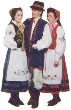Polskie Stroje Ludowe - Strój kaszubski Folk Costume, Costumes, European Clothing, Drawing Clothes, Traditional Outfits, Poland, Queen, Photography, Couples