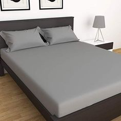 Double Bed Sheets, Double Beds, Renting, Color Stripes, Slate, Home Kitchens, Pillow Covers, King, Pillows
