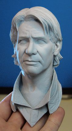 More shots of the 1:2 scale Ben Kenobi sculpt for Sideshow. Sculpted in wax. Trev