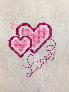 Machine Embroidery Design Cross Stitch French knot Heart Love