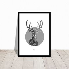 Ohh dearest deer. Christmas poster. Also available in black. Design Mai-Britt Parylewicz.
