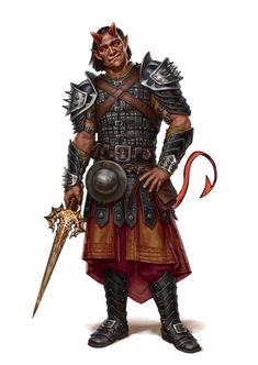 Male Tiefling Fighter Rogue - Pathfinder PFRPG DND D&D 3.5 5th ed d20 fantasy