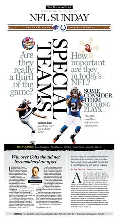 - by Vince Chiaramonte Nfl Sunday, Daily Page, News Design, Sports News, Newspaper, Editorial, Journaling, Journals, Journaling File System