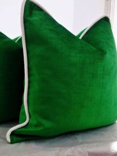 green velvet pillow covergreen pillow covermodern pillow cover emerald green pillow covergold pillow