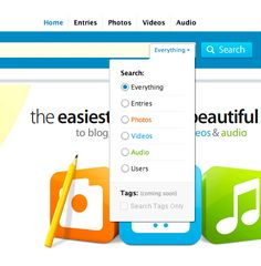 ui user-interface interface search menu colorful blue green orange simple clean