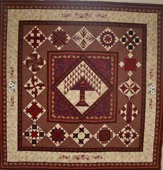 Bible Quilt Block images | Quilt donated to my church. Center: tree of life 16 biblical blocks ...