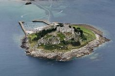 St Michael's Mount in Cornwall UK aerial image | by John Fielding #stmichaelsmount #castle #abbey #cornwall #coast #aerial