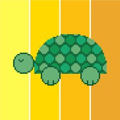 Cute tortoise cross stitch pattern for kids' rooms by CrossStitchteLine  Sweet modern cross stitch pattern of a turtle. Contemporary embroidery chart. Cute design perfect for kids. 'Dorothea the dotty tortoise'
