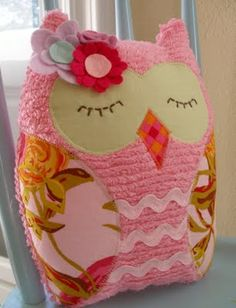 owl pillow owl pillows, sew, idea, craft, stuff, babi, diy, owls, thing