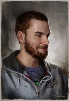 Paintable.cc | 50 Stunning Digital Painting Portraits: Carlos Alberto