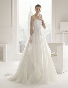 Rosa Clará 2015 SERENAi love the softness of the skirt on this. especially if you go with the sweetheart neckline