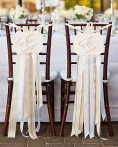 Décoration de chaises de mariage 2017 : des tendances délicates! Image: 8