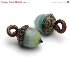 ON SALE 35 OFF Handmade Glass Lampwork Beads   por gracebeads, $16.25