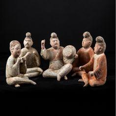 Cinco narradores Yugur. Dinastia Tang.Tang Daynasty figuring