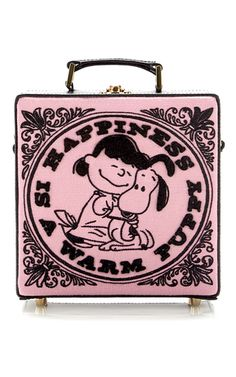 Happiness Is A Warm Puppy Square Bag by OLYMPIA LE-TAN for Preorder on Moda Operandi