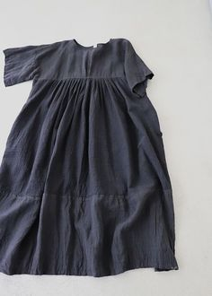 B/B 블랙 주름 린넨 원피스 Diy Clothes, Clothes For Women, Mori Fashion, Girls Dresses, Summer Dresses, Couture, Linen Dresses, Simple Dresses, Creations