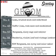 SCENTSY  GROOM FALL/WINTER 2016 FLYER BY: Brittany Gerrity Admin Of: No-Nonsense Canadian Flyer Sharing Group On Facebook www.brittanygerrity.scentsy.ca