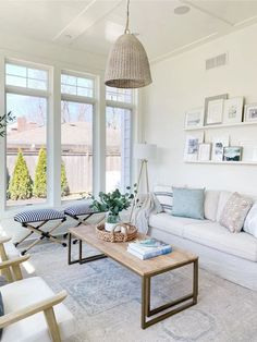 Neutral Sunroom and the Best Selling Items From My Home | Life On Cedar Lane Family Room Decorating, Family Room Design, Casual Living Rooms, Living Spaces, Living Room Chairs, Living Room Decor, Sunroom Furniture, Home Decor Inspiration, Decor Ideas