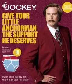 Jockey introduces Ron Burgundy Anchorman 2 Briefs.