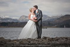 A stunning wedding photograph taken at the Low Wood Bay hotel.
