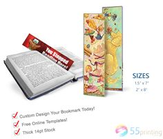 Inexpensive Bookmark Printing Promotion coupons inside - At you can acquire straight together with horizontal favorites of various models according to your requirements. Ron Clark, Bookmark Printing, Custom Bookmarks, Online Templates, History Page, Improve Yourself, Make It Yourself, Printing Companies, Printing Process