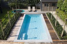 Love the pool colour and style as well as the decking around the pool Outdoor Spaces, Outdoor Living, Outdoor Decor, Outdoor Ideas, Pool Colors, Outdoor Swimming Pool, Garden Pool, Outdoor Gardens, Architecture Design