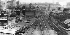 Rail Yard at edge of Harlem River  c. 1905 by syscosteve, via Flickr