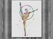 Watercolour paintings – Gymnastics watercolor painting Printable Art – a unique product by on DaWanda Nursery Paintings, Nursery Art, Watercolor Print, Watercolor Paintings, Gymnastics Wallpaper, Gymnastics Posters, Circus Art, Silhouette Art, Doodle Art