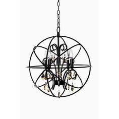 Maxim Orbit 4-light Single Pendant (Oil Rubbed Bronze - Metal), Black