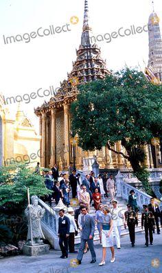 February 4, 1988: Prince Charles & Princess Diana at the Emerald Buddha Temple in Bangkok, Thailand. Photo: Dave Chancellor-alpha-Globe Photos Inc 1988 Princessdianaretro