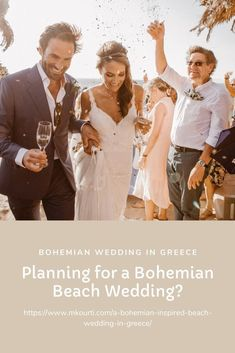 There has never been a better time for weddings on the beach, so start planning your Bohemian Beach Wedding in Greece today! Bohemian Beach Wedding, Chic Wedding, Wedding Tips, Summer Wedding, Greece Today, Greece Wedding, Celebrity Weddings, Destination Wedding Photographer, Wedding Planner