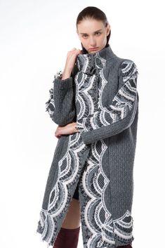 secret embroidered heavy wool coat  - Outerwear - NIDODILEDA