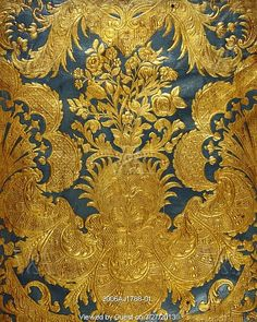 From the Victoria and Albert Museum    another pinner said: Panel, detail. Embossed leather and polychrome. The Netherlands, c.1720-30.