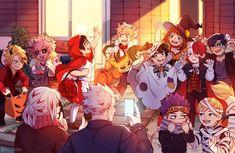 My hero academia halloween - credits to the artist: (addie) on Anime Halloween, Mode Halloween, Happy Halloween, Halloween Party, My Hero Academia Shouto, My Hero Academia Episodes, Hero Academia Characters, Anime Characters, Bakugou Manga
