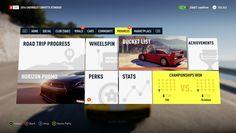 Forza Horizon 2 Game User Interface design