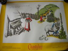 Chanticleer and The Fox Poster By Barbara Cooney 1958 reprint 1972