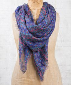 Another great find on #zulily! Purple & Pink Geometric Scarf #zulilyfinds