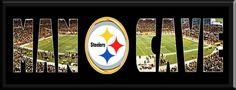 MAN CAVE - Personalized Framed Pittsburgh Steelers Team Logo & Heinz F – Citi Sports Memorabilia