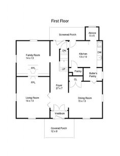 American Foursquare on shared bathroom floor plans