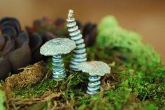 Terrarium Miniature Garden Art Ceramic Mushroom Sculptures For Indoor House Plant Gardens via Etsy