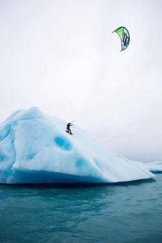 Unusual snowkite in Antarctica