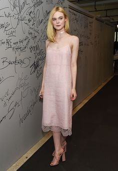 Actress Elle Fanning attends AOL Build to discuss the film 'The Neon Demon' at AOL Studios on June 22 2016 in New York City