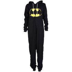 Childrens Batman Print Onesie ($4.58) ❤ liked on Polyvore featuring pajamas, onesie, batman and pijamas